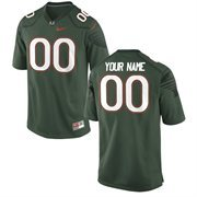 Miami Hurricanes Nike Alternate Custom Game Jersey - Green