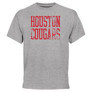 Men's Heather Grey Houston Cougars Straight Out T-Shirt
