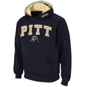 Men's Stadium Athletic Navy Pitt Panthers Arch & Logo Pullover Hoodie