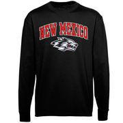 New Mexico Lobos Midsize Arch Over Mascot Long Sleeve T-Shirt - Black