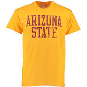 Men's Gold Arizona State Sun Devils Straight Out T-Shirt