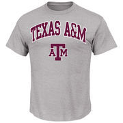 Men's Majestic Gray Texas A&M Aggies Arch Mascot T-Shirt