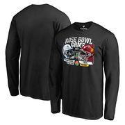 Men's Fanatics Branded Black Penn State Nittany Lions vs. USC Trojans 2017 Rose Bowl Dueling Long Sleeve T-Shirt