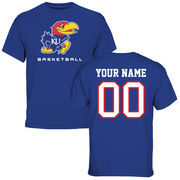 Men's Royal Kansas Jayhawks Personalized Basketball T-Shirt