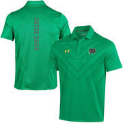 Men's Under Armour Kelly Green Notre Dame Fighting Irish Coaches Sideline Scout Polo