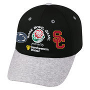 Men's Top of the World Black/Heather Gray Penn State Nittany Lions vs. USC Trojans 2017 Rose Bowl Dueling Adjustable Hat