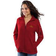 Women's Columbia Red Iowa State Cyclones Give & Go Full-Zip Jacket