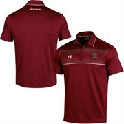 Mens South Carolina Gamecocks Under Armour Garnet Win It Staff Polo