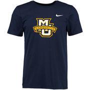Men's Nike Navy Marquette Golden Eagles Big Logo T-Shirt