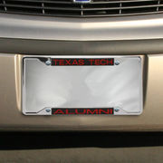 Texas Tech Red Raiders Alumni Chrome License Plate Frame