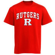 Men's New Agenda Red Rutgers Scarlet Knights Arch Over Logo T-Shirt
