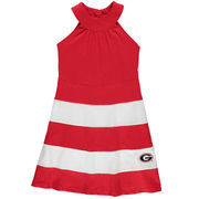 Girl's Youth Red Georgia Bulldogs Ellee Wide Stripe Dress