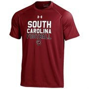 Men's Under Armour Garnet South Carolina Gamecocks Football On-Field Graphics Performance T-Shirt