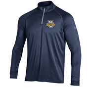Men's Under Armour Navy Marquette Golden Eagles 1/4 Zip Performance Top