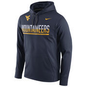 Men's Nike Navy West Virginia Mountaineers Circuit Pullover Performance Hoodie