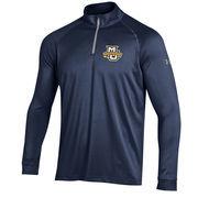 Men's Under Armour Navy Marquette Golden Eagles 1/4 Zip Performance Top