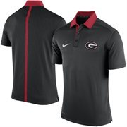 Men's Nike Black Georgia Bulldogs 2015 Coaches Sideline Dri-FIT Polo