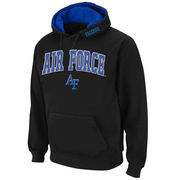 Men's Stadium Athletic Black Air Force Falcons Arch & Logo Pullover Hoodie