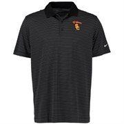 Men's Nike Black USC Trojans Victory Stripe Golf Polo