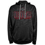 Men's Champion Black Nebraska Cornhuskers Chrome Polyester Pullover Hoodie