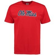 Men's Red Ole Miss Rebels Core Logo T-shirt