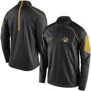 Men's Nike Black Missouri Tigers 2015 Coaches Sideline Alpha Fly Rush 1/4 Zip Performance Jacket