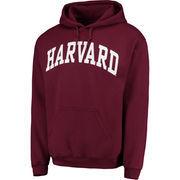 Men's Crimson Harvard Crimson Basic Arch Pullover Hoodie