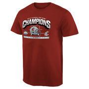 Men's Crimson Washington State Cougars 2015 Sun Bowl Champions Hash Mark T-Shirt