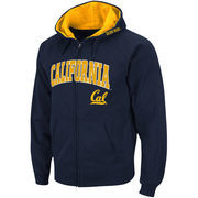 Men's Stadium Athletic Navy Cal Bears Arch & Logo Full Zip Hoodie