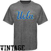 UCLA Bruins Distressed Big Logo Ring Spun T-Shirt - Gray