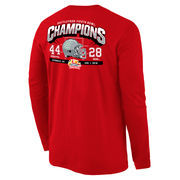Men's Scarlet Ohio State Buckeyes 2016 Fiesta Bowl Champions Touchdown Long Sleeve T-Shirt