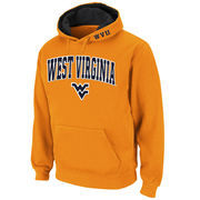 Men's Stadium Athletic Gold West Virginia Mountaineers Arch & Logo Pullover Hoodie
