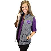 Women's Black Kansas State Wildcats Herringbone Quilted Puffer Vest