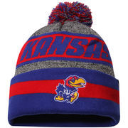 Men's Top of the World Charcoal Kansas Jayhawks Cumulus Pom Knit Hat