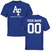 Men's Royal Air Force Falcons Personalized Basketball T-Shirt