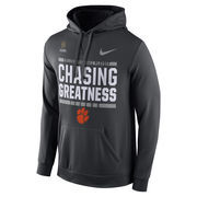 Men's Nike Anthracite Clemson Tigers 2016 College Football Playoff Bound Chasing Greatness Pullover Hoodie