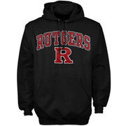 Mens Black Rutgers Scarlet Knights Arch Over Logo Hoodie