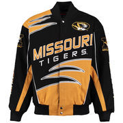 Men's Black Missouri Tigers Shred Cotton Twill Jacket