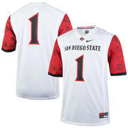Men's Nike #1 White San Diego State Aztecs Replica Game Jersey