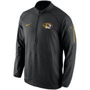 Men's Nike Black Missouri Tigers Hybrid Quarter-Zip Performance Jacket