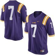 No. 7 LSU Tigers Nike Replica Football Jersey - Purple
