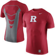 Men's Nike Red Rutgers Scarlet KnightsSideline Hypercool 3.0 Dri-FIT Fitted Performance Top