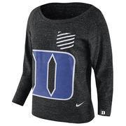 Women's Nike Black Duke Blue Devils Gym Vintage Sweatshirt