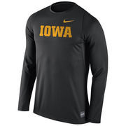 Men's Nike Black Iowa Hawkeyes 2016 Elite Basketball Shooter Long Sleeve Dri-FIT Top