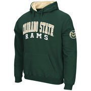 Men's Stadium Athletic Green Colorado State Rams Double Arches Pullover Hoodie