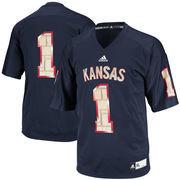 Men's adidas Navy Kansas Jayhawks Limestone Replica Football Jersey