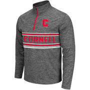 Men's Colosseum Heathered Grey Cornell Big Red Brisk Quarter-Zip Pullover Jacket