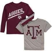 Youth Maroon/Gray Texas A&M Aggies Squad T-Shirt Combo Pack