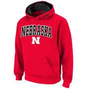 Men's Stadium Athletic Scarlet Nebraska Cornhuskers Arch & Logo Pullover Hoodie