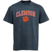 Men's New Agenda Charcoal Clemson Tigers Arch Over Logo T-Shirt